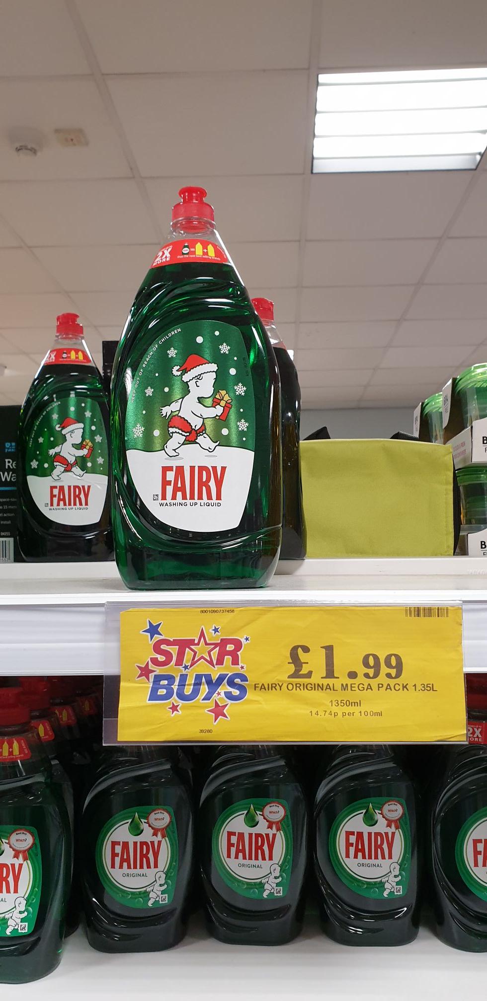 Fairy liquid 1.35L £1.99 instore @ Home Bargains