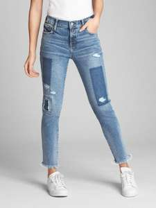 Mid Rise True Skinny Ankle Jeans with Laser-Patch Detail (limited sizes) £9.99 @ GAP