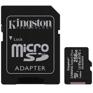 Kingston 256GB U3 Canvas Select Plus micro SD Card (SDXC) + SD Adapter - 100MB/s - £22.99 delivered @ Base