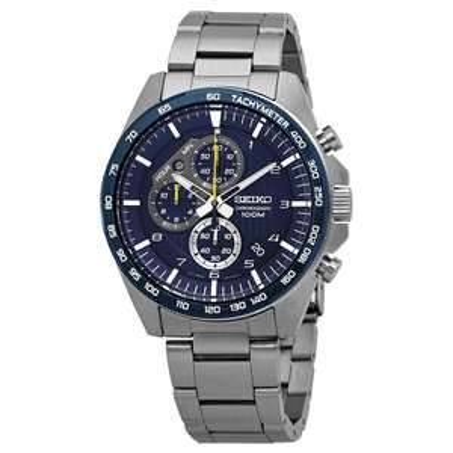 Seiko Mens Chronograph Quartz Watch with Stainless Steel Strap £115 at Amazon