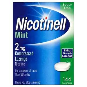 Nicotinell 2mg Lozenges 144 box. In store and online @ Superdrug £10.83