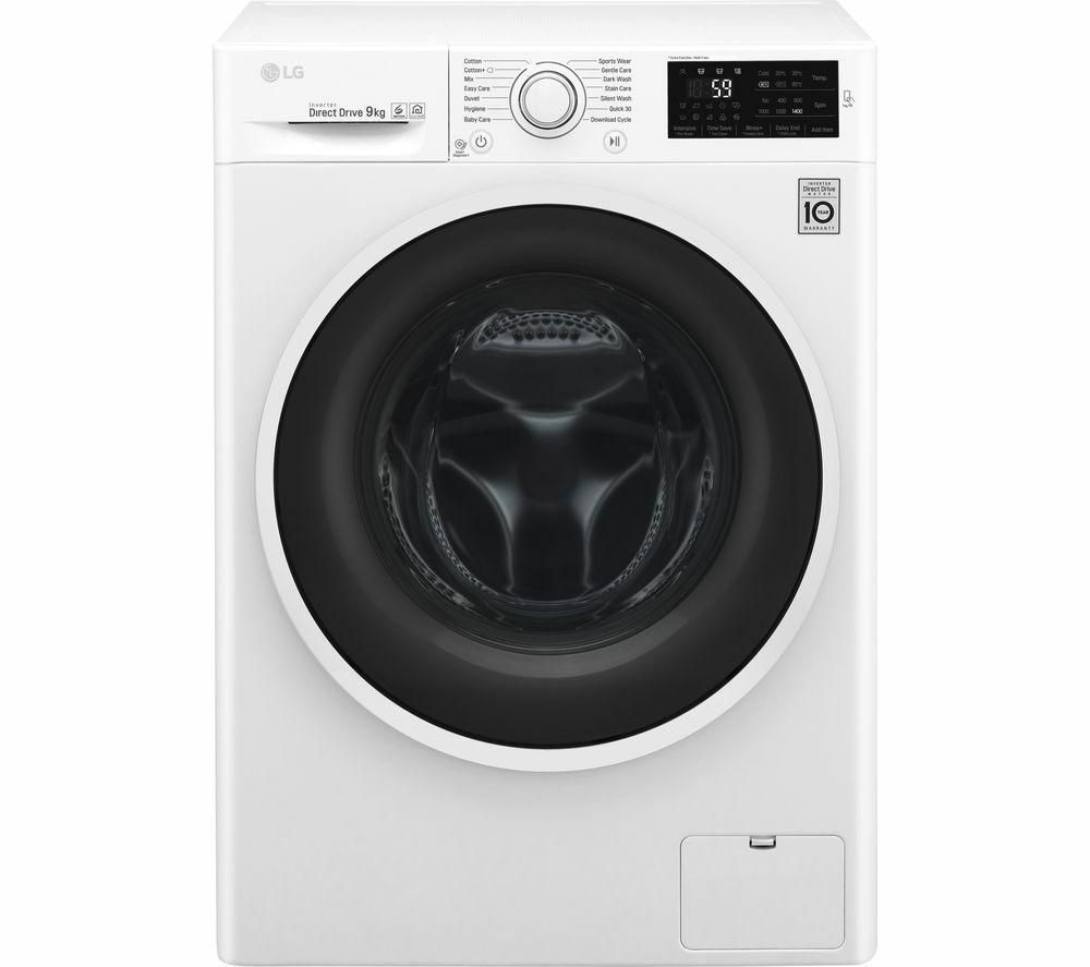 LG F4J609WN NFC 9 kg 1400 Spin Washing Machine - White £349 Currys PC World
