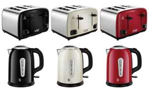 Russell Hobs Cavendish 4-Slice Toasters for £18 or Cavendish Kettles for £18 (Black, Cream or Red) @ Currys PC World