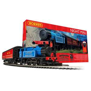 Hornby Night Mail Steam Train Set R1237m, £39.59 @ Hawkin's Bazaar free Click & Collect