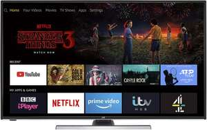 """JVC LT-40CF890 Smart 4K TV 40"""" £249 or 49"""" £298 or 55"""" £349 Sold by CurrysPCWorld and Fulfilled by Amazon."""