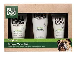 Bulldog Original Shave Trio Gift Set £4.49 @ Superdrug - Free order and collect