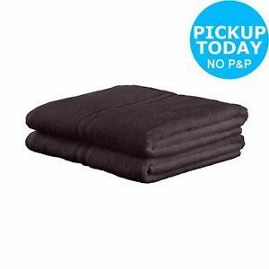 Pair Of Bath Sheets - 450gsm 100% Cotton , Black \ Navy \ Stone \ £5 ( Sunshine pair bath towels £4 ) @ Argos Ebay ( free Click & Collect )