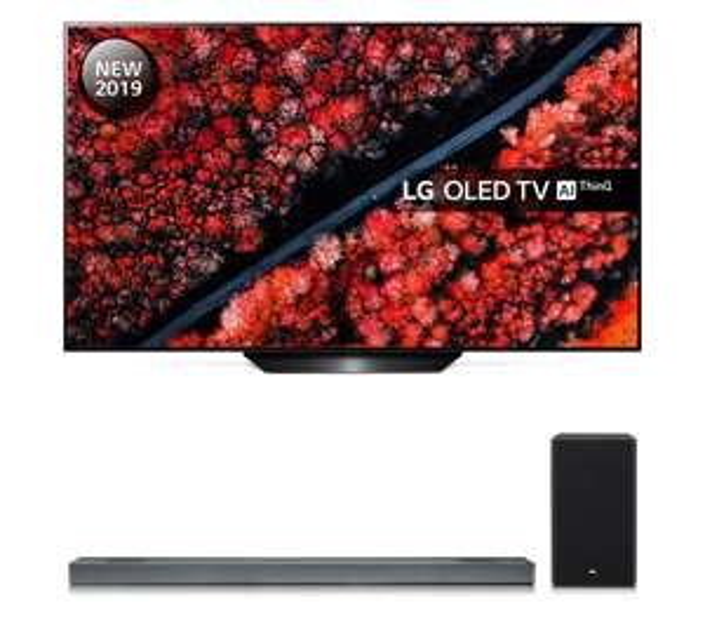 """LG OLED55B9PLA 55"""" 4K Ultra HD HDR Smart OLED TV • Free LG SJ3 Soundbar • 2 Free 4K Blu-ray Films • 5 Year Warranty £1079 PRC Direct"""