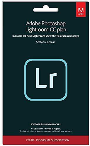 Adobe Photoshop Lightroom with 1TB of storage| 1 Device |1 Year | PC/Mac | Key Card £49.99 Amazon
