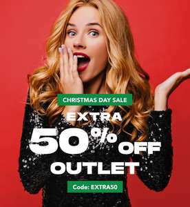 Extra 50% off the Outlet with code at Secret Sales