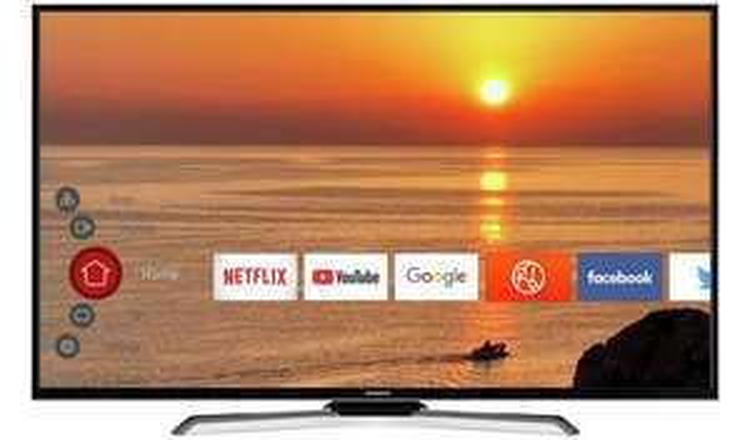 "Hitachi 55HK25T74U 55"" 4K Ultra HD HDR Freeview Smart WiFi LED TV Black - £329 @ Argos"