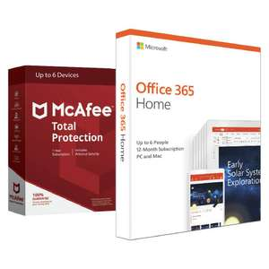 Microsoft Office 365 Home & McAfee Total Protection 6 Device £39.99 Free Click & Collect @ Argos