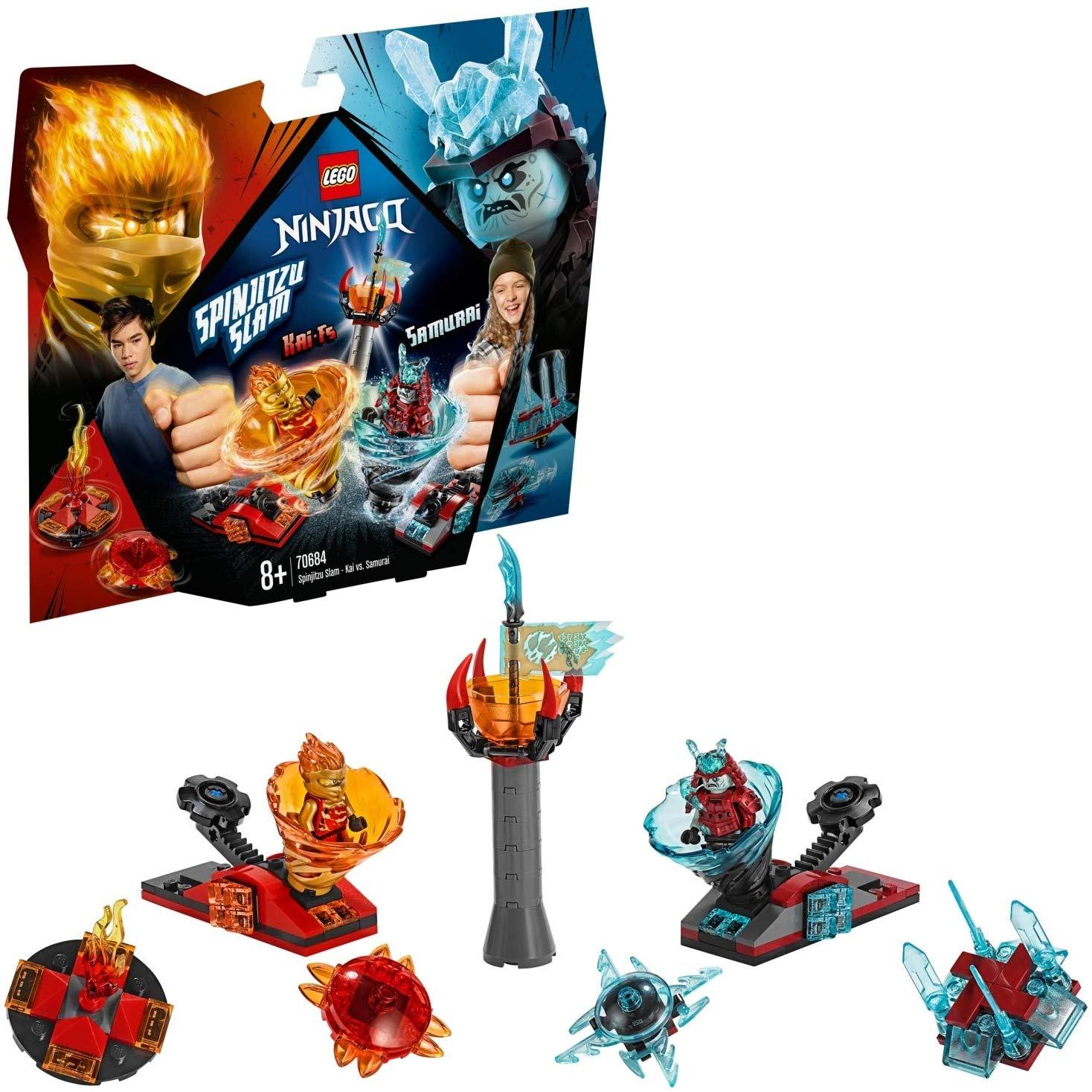 LEGO 70684 NINJAGO Spinjitzu Slam-Kai VS Samurai Ninja Toy with 2 Tornado Spinner Launchers £13.49 (Prime) / £17.98 (non Prime) at Amazon