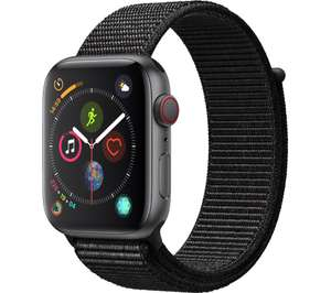 APPLE Watch Series 4 Cellular - Space Grey & Black Sports Band, 44 mm £299 Currys
