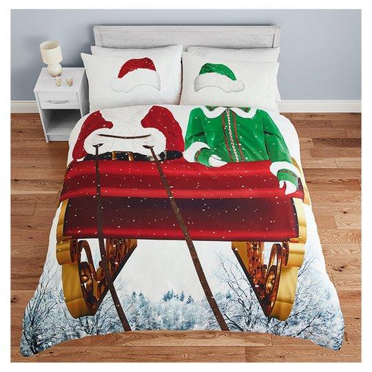 Santa Sleigh Double Duvet Set for £3.50 @ Tesco