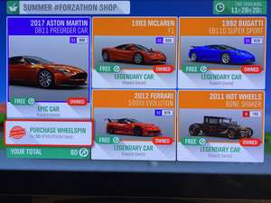 Excellent free cars in Forza Horizon 4 today via forums.forzamotorsport