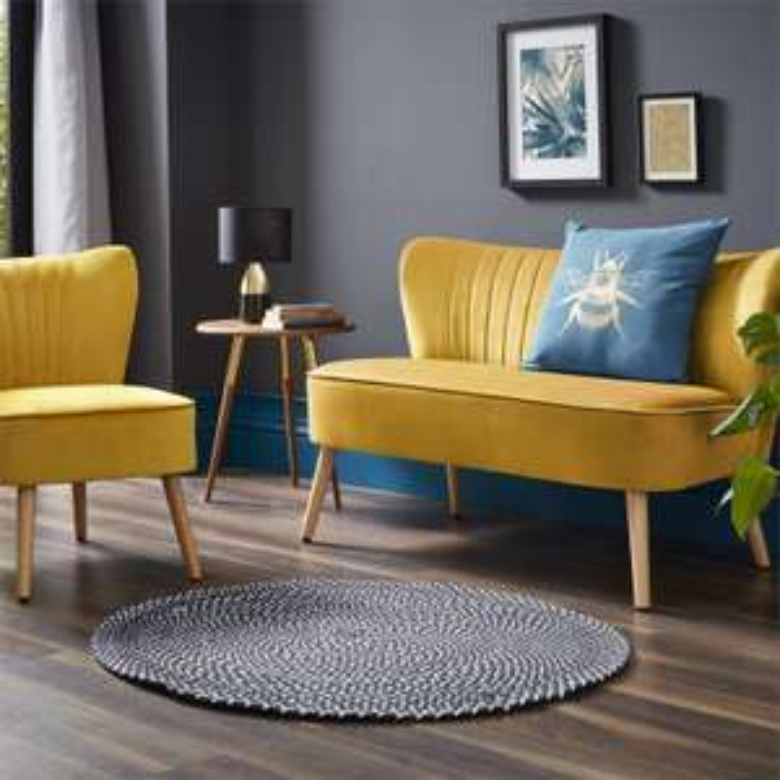 Cocktail Sofa (Grey/ Ochre/ Dark Bush) - £120 Delivered / Occasional Chair £60 Delivered @ Homebase