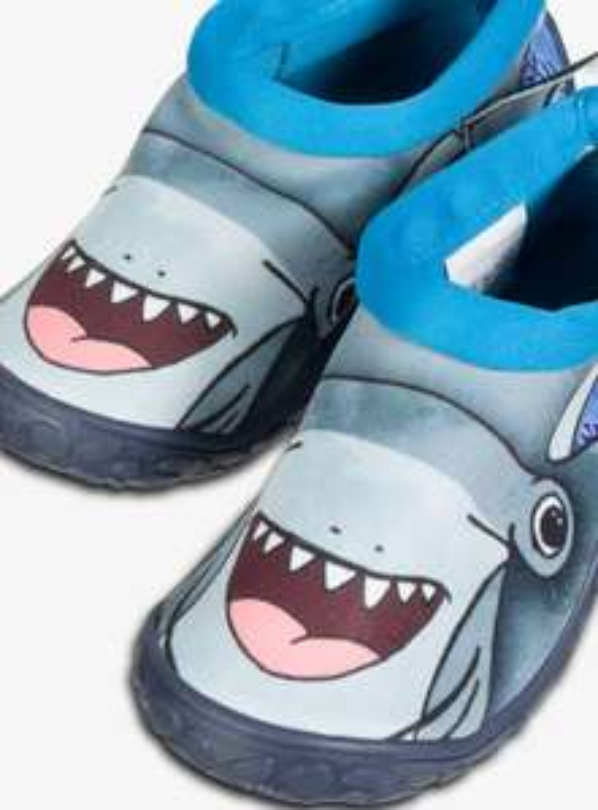 3D Shark Aqua Children's Toggle Beach Shoes - Sizes 5, 6, 7, 8, 9, 10 . £3.75 @ Argos ( Free Click & Collect )