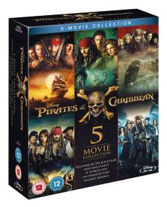Pirates of the Caribbean 5 movie blu ray boxset £12.74 delivered with code @ zoom