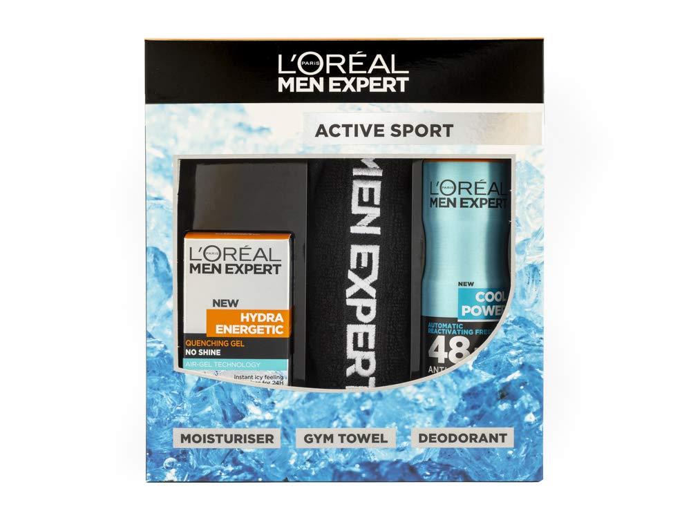 L'Oreal Men Expert Active Sport Gift Set For Him: Moisturiser, Deodorant & Gym Towel - £5.50 (+£4.49 NP) Delivered @ Amazon
