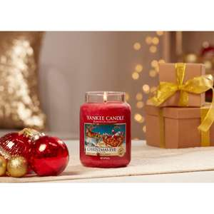 Yankee Candle Christmas Eve or Christmas Magic or Red Apple Wreath or The Perfect Tree or Evergreen Mist Large Jar £10 Each @ Yankee Bundles