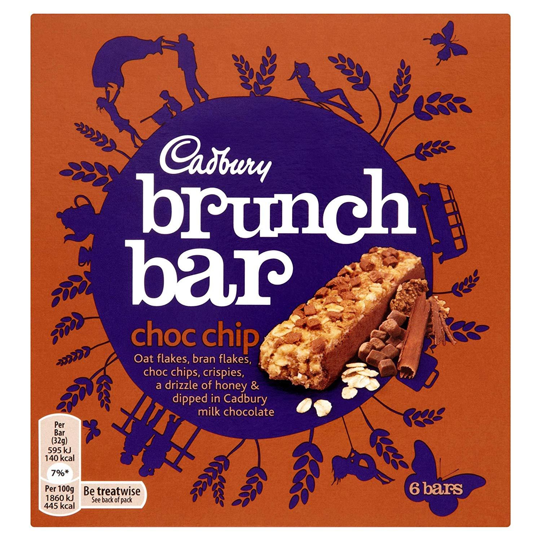 Cadbury Brunch Bar Chocolate Chip, 6 x 32g at Amazon for £1