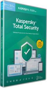 Kaspersky Total Security 2020 | 3 Devices | 1 Year£12.99 (+£2.99 Non Prime) @ Amazon
