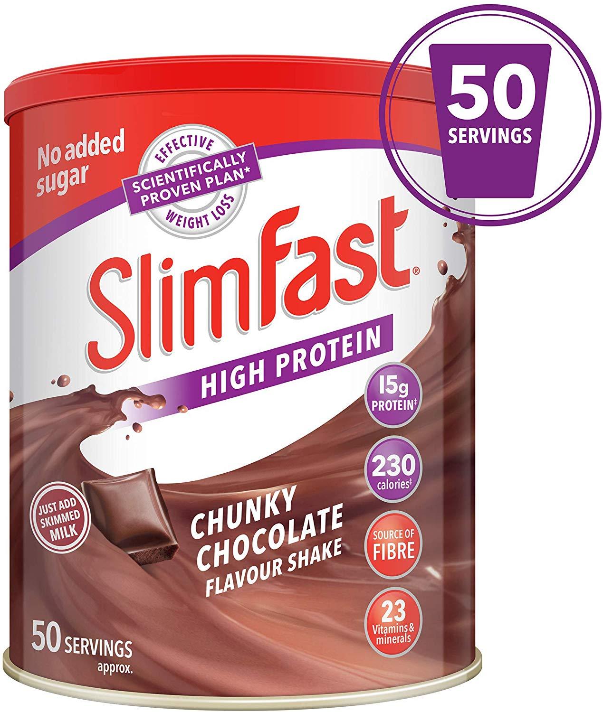 Slimfast 50 servings 1.875kg , £16.99 (+£4.49 Non Prime) @ Amazon