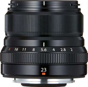 Fujinon XF23mm F2 R Weather Resistant Lens, Black £341.10 (possible cashback available) @ Amazon