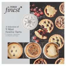 Tesco Finest, Mince Pies, Mini Mince Pie, Rhubarb & Ginger Pies,Spiced Rum Pies ( £1.50- £3.00 per pack )- On Offer Any 2 for £2.00