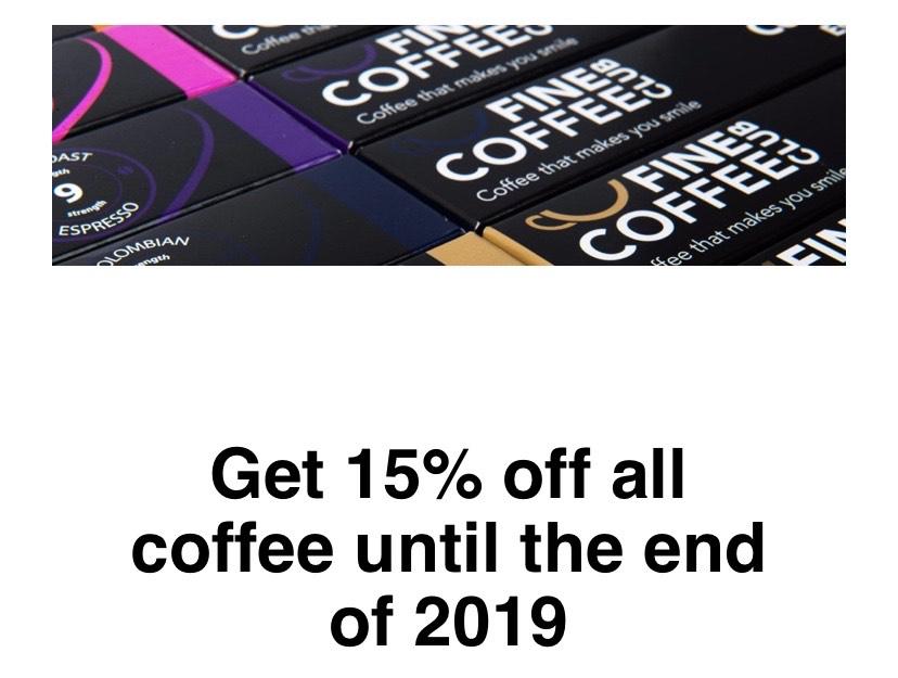 15% off Nespresso Compatible Coffee Pods - Fine Coffee Club