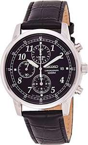 Seiko Men's Black Leather Strap Chronograph Watch £59.99 @ Argos (Click & Collect)