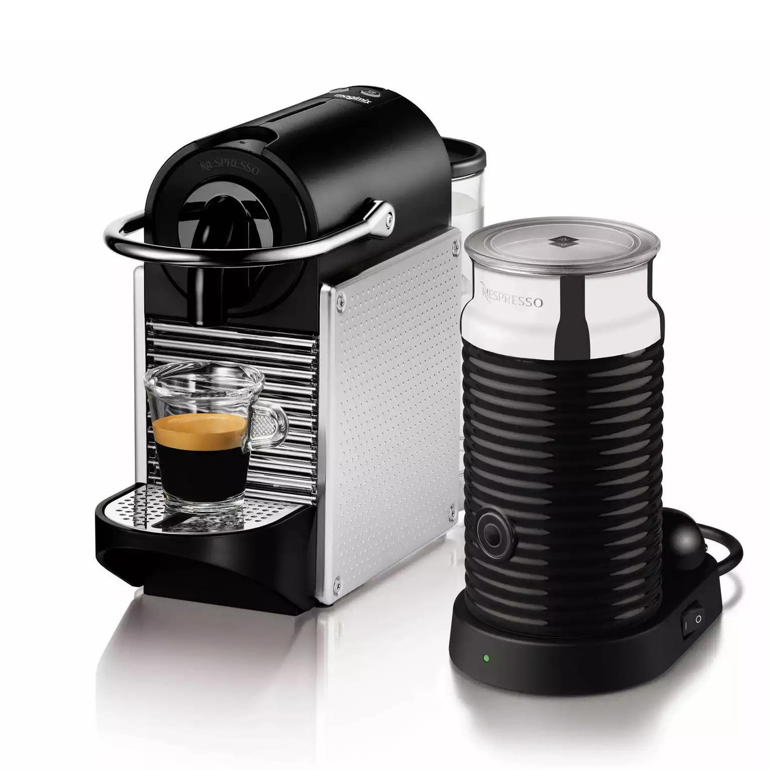 Nespresso - Aluminium 'Pixie' Aeroccino Coffee Machine By Magimix 11323 - £120 delivered @ Debenhams. Potential 10% Quidco too.