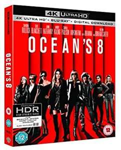 Ocean's 8 4k UHD £9.99 @Amazon prime (£2.99 p&p non prime) 4%tcb. (Please see comments below)
