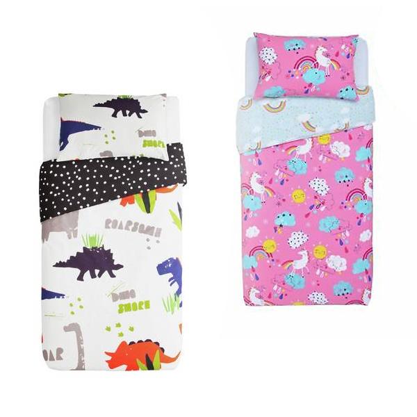 Argos Home Toddler Bedding Sets £6.75 Each Using Click & Collect - Dinosaur, Unicorn & Other Designs @ Argos