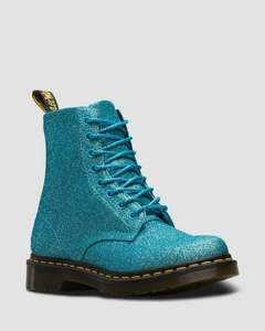 Turquoise 1460 Pascal Fine Glitter - size 4 only now £59 @ drmartens.com