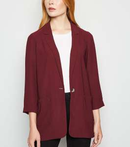 New Look ladies burgundy lightweight blazer - £10 + £1.99 Click and Collect / £3.99 delivery