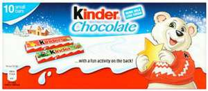 Kinder 10 Pack of Mini Bars - 49p @ Superdrug instore
