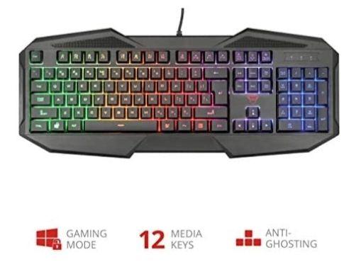 Trust Gaming GXT 830-RW Avonn Gaming Keyboard LED Illuminated, UK Layout - Black £19.99 (+£4.49 Non Prime) @ Amazon