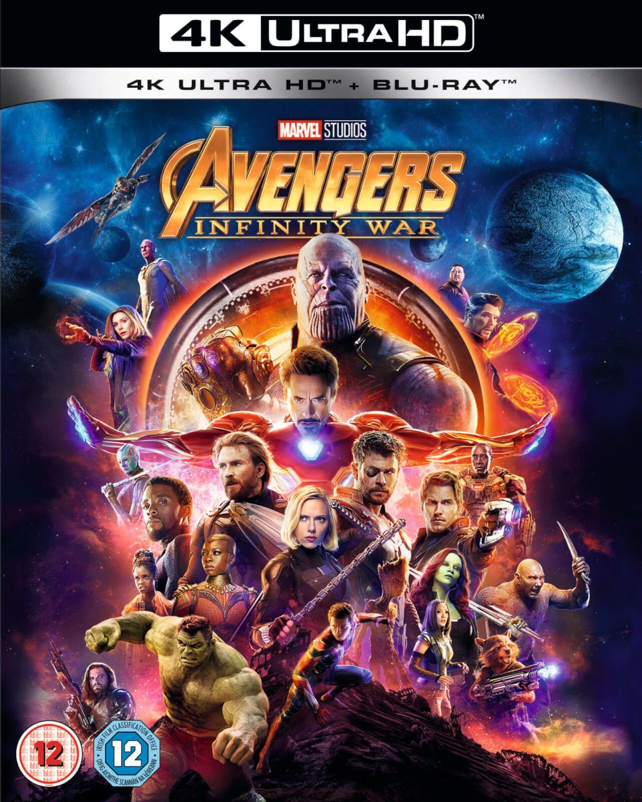 Avengers Infinity War 4K UHD + Blu-ray (preowned) £8 @ CeX