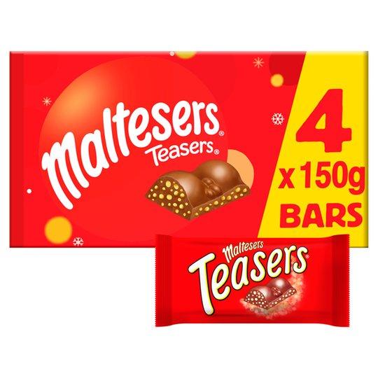 Malteser Teasers large selection box (4 x 150g bars) £3 at Superdrug