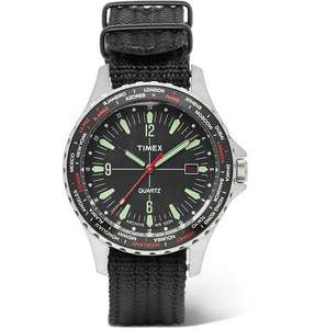 TIMEXNavi World Time Stainless Steel And Nylon-Webbing Watch £57.50 @ MrPorter