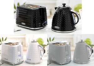 Daewoo Argyle 2 Slice Toaster / Daewoo 1.7L Argyle Kettle 3KW - Black/ Grey/ White - £18 (EACH) @ Wilko (in-store or £2 click & collect)