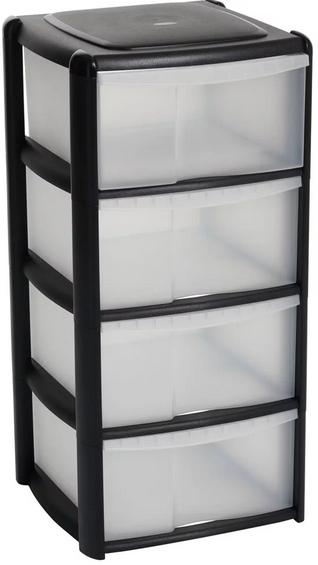 Wilko 4 drawer plastic storage - £10 Instore @ Wilko (Nationwide)