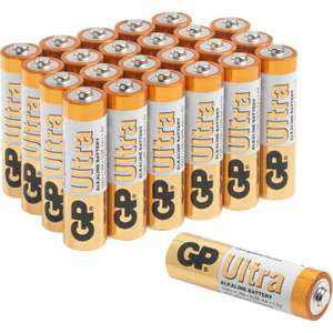 24 pack GP Ultra Alkaline Batteries - AA Or AAA - £5.88 @ Toolstation (Free Click & Collect)
