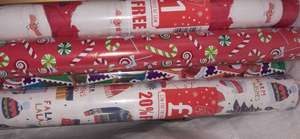Poundstretcher 12 Meter wrapping paper - 50p