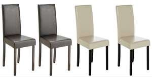 Argos Home Pair of Leather Effect Mid Back Chairs -Cream or Black - £46.95 delivered @ Argos