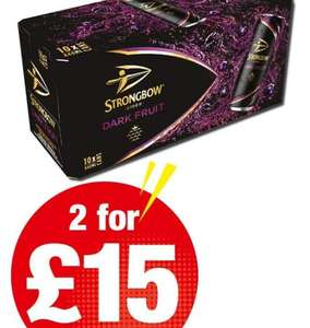 Strongbow darkfruit 2 for £15 @ best one (south shields)