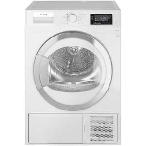 Smeg DRF81AUK 8Kg Heat Pump Tumble Dryer - White - A+ Rated - £386.10 (With Code) @ AO