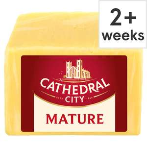 Tesco Counter Cathedral City Mature Cheddar Now Half Price £5.50 per kg @ Tesco Online & Instore